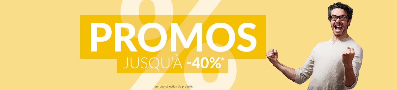 Promos jusqu'a -40%