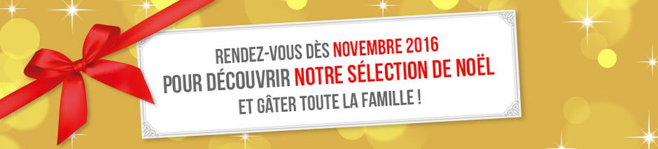 Rendez-vous dès novembre 2016 pour découvrir notre sélection de noël et gâter toute la famille!