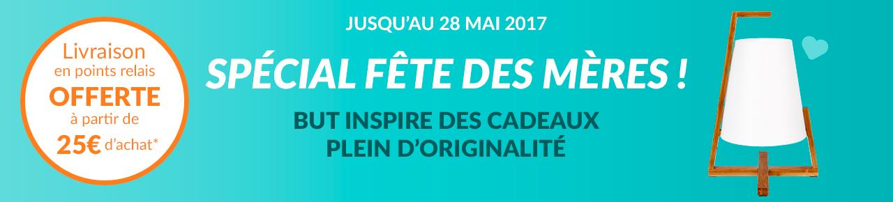 Livraison en points relais OFFERTE à partir de 25 euros d'achat* jusqu'au 28 mai 2017 spécial fête des mères ! but inspire des cadeaux plein d'originalité