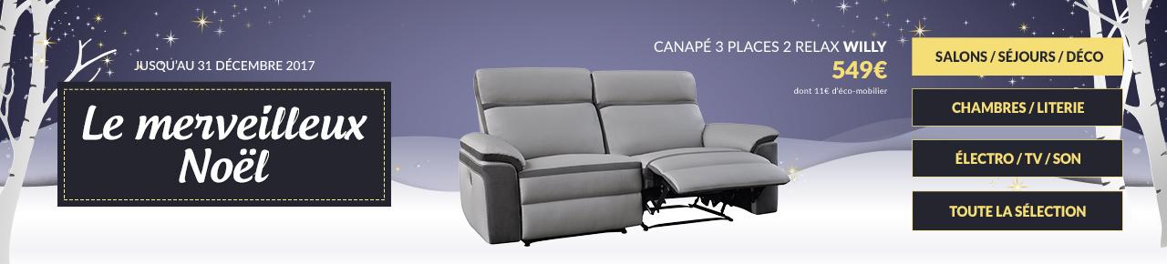 Les Idées Cadeaux Meuble Decoration - Canapé convertible scandinave pour noël deco saloon