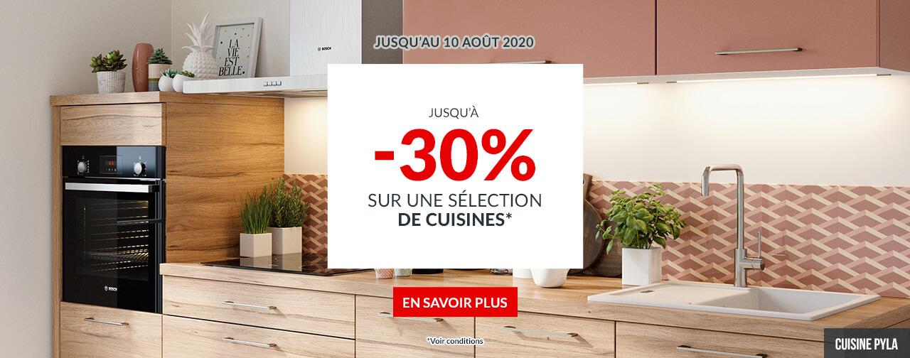 -30% sur une sélection de Cuisines KIT