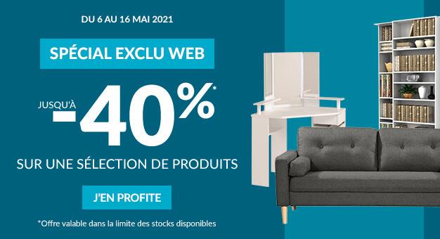 Spécial Exclu Web jusqu'à -40%