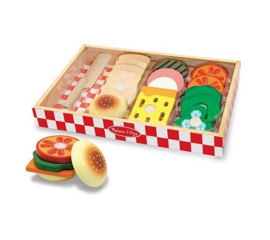 Ensemble De Préparation De Sandwichs En Bois - 1110373