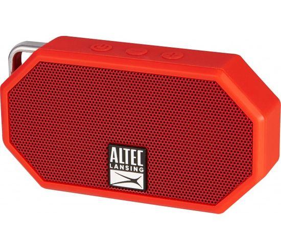 """Enceinte Bluetooth Bt, """"mini H20"""" Rouge , Ip67 / Altec Lansing"""