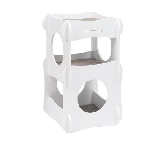 Meuble À Chat Condo Blanc - 52113
