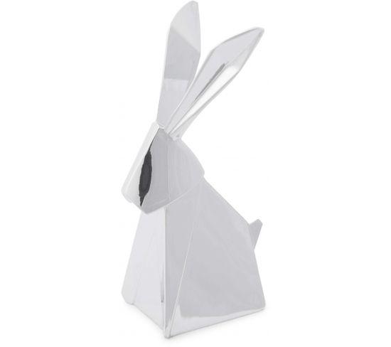 Porte-bagues Lapin Chromé Origami