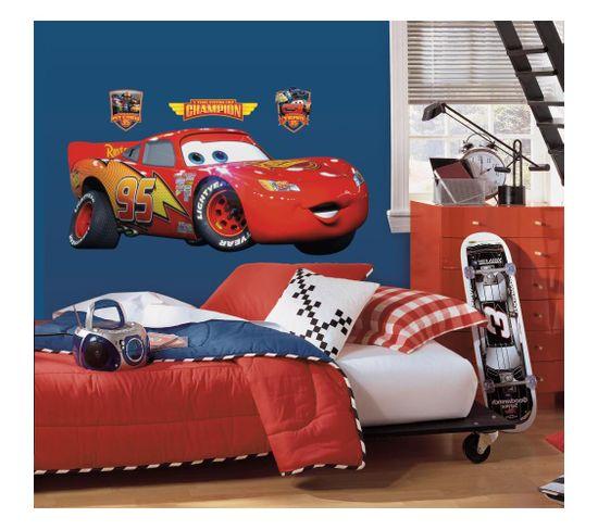 Stickers Repositionnables Géants Flash Mcqueen, Cars 2, Disney - Flash Mcqueen Disney Cars 2