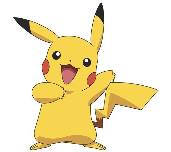 Sticker Géant Repositionnable Pikachu Pokemon Nintendo 45,7cm X 101,6cm