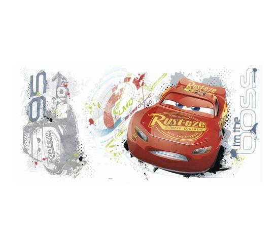 Sticker Géant Repositionnable Cars Avec Flash Mcqueen De Disney 92,7cm X 43,8cm