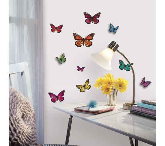 Stickers Repositionnables Papillons En Relief 3d - Papillons Relief 3d