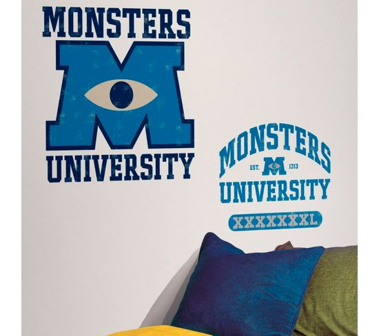 Stickers Géant Logo Monstres Academy Disney