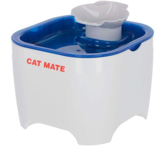 Fontaine Pour Animaux Cat Mate 19x19x14,5 Cm Blanc Et Bleu