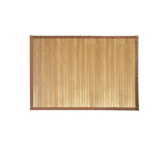 Tapis De Bain En Bambou Brun Clair 86 X 53 Cm