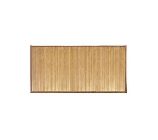 Tapis De Bain En Bambou Brun Clair 122 X 61 Cm