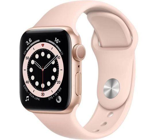 Watch Series 6 Gps, 40mm Boîtier En Aluminium Or Avec Bracelet Sport Rose Des Sables