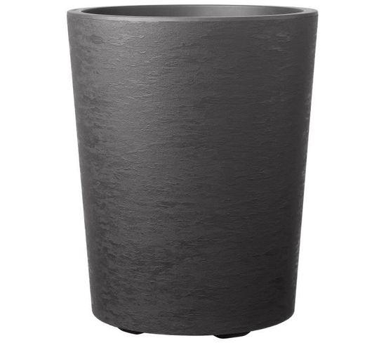 Pot De Fleur Vaso Gravity Gris Carbone