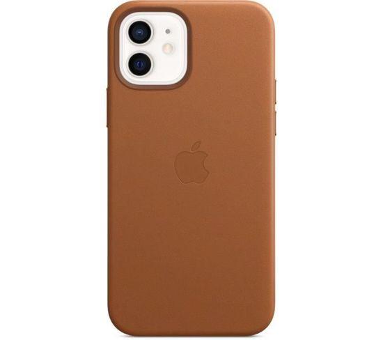 Coque En Cuir iPhone 12 | 12 Pro Avec Magsafe - Brun Selle