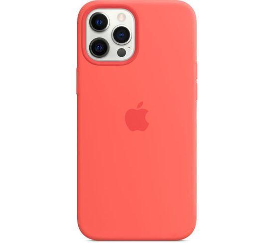 Coque En Silicone iPhone 12 Pro Max Avec Magsafe - Pamplemousse