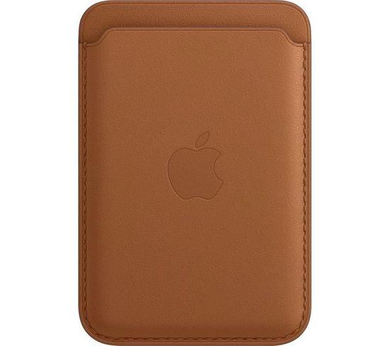 Coque iPhone Porte-cartes En Cuir Avec Magsafe - Brun Selle
