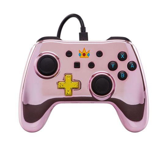 Princess Peach Manette De Jeu Nintendo Switch Analogique/numérique Usb Rose