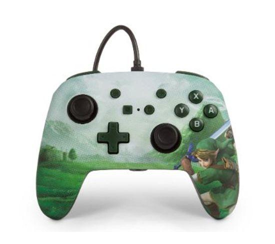1513075 Manette De Jeu Nintendo Switch Analogique 3,5 Mm Vert