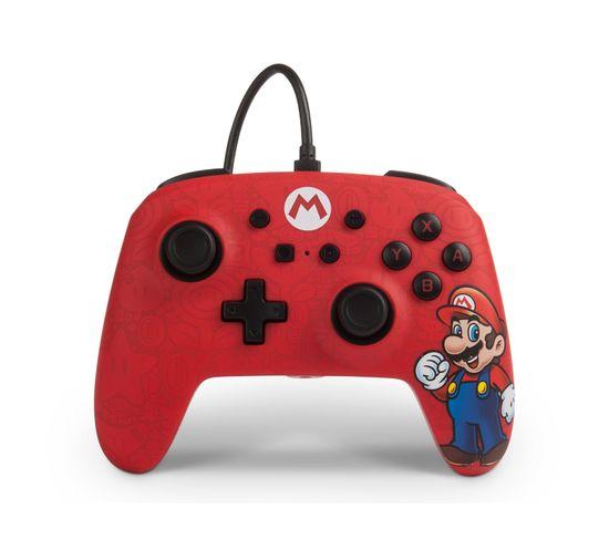 Mario Manette De Jeu Nintendo Switch Analogique/numérique Usb Multicolore, Rouge