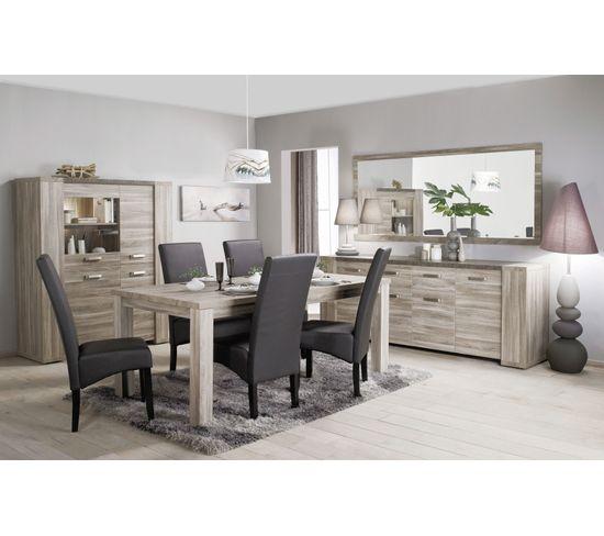 Table L.190 rectangulaire STONE Chêne gris