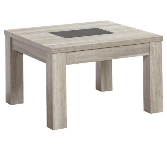 Table basse carrée STONE Chêne gris