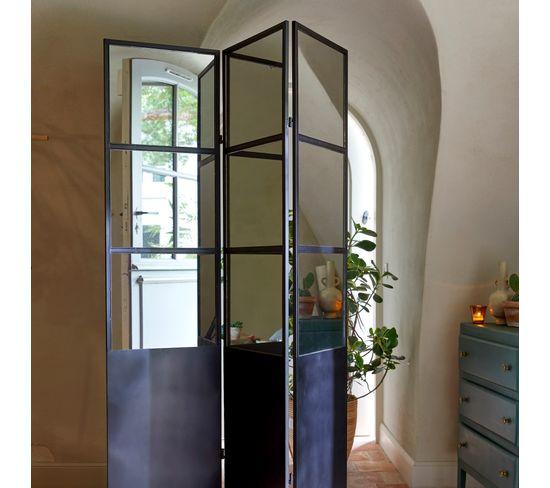 Paravent 121x170 cm METALI Noir