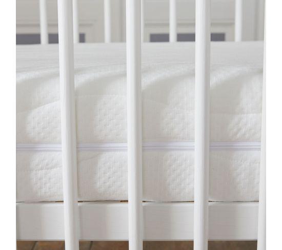Babysom - Matelas Bébé Soutien+- 70 X 140cm - Epaisseur 14cm - Anti Acarien - Déhoussable - Garantie 10ans - Contact Latex