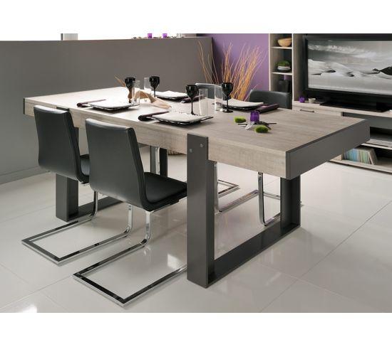 Table à manger STAN Beige et gris