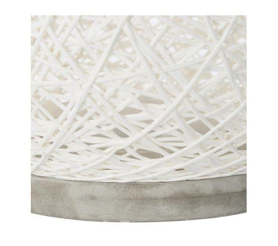 Lampe boule ciment ø18,5 cm BOULE Blanc