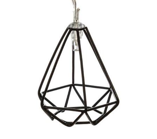 Guirlande filaire 10 LED  noir