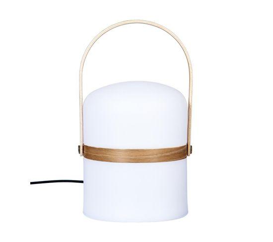 Lampe exterieur GARDENIA Blanc/bois