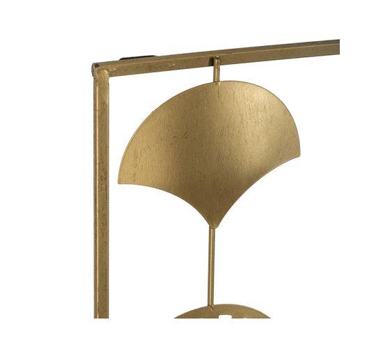 Plaque métal 30x80 cm ART DECO Doré