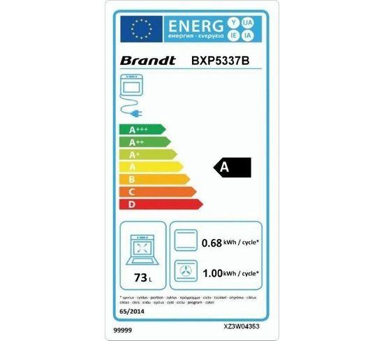 Four encastrable BRANDT BXP5337B Quatro Pulse