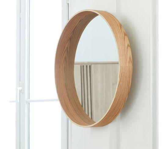 Miroir rond Ø70 UPSALA bois