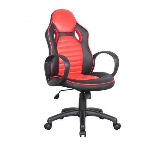 Chaise De Bureau Racing Pivotante Noire Rouge Chaise Fauteuil Bureau But
