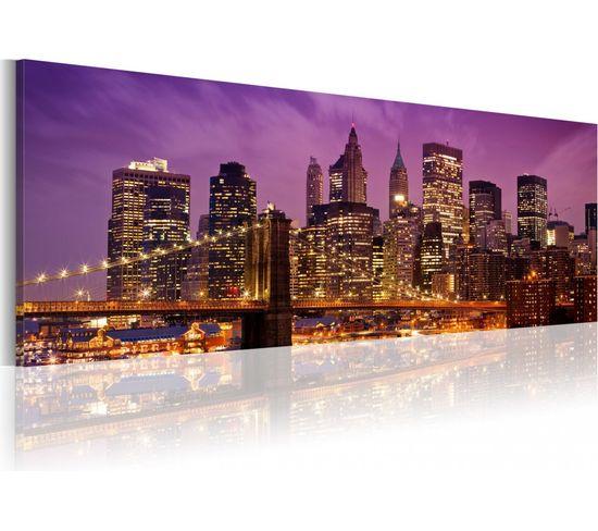 Tableau Night In New York - 120 X 40 Cm