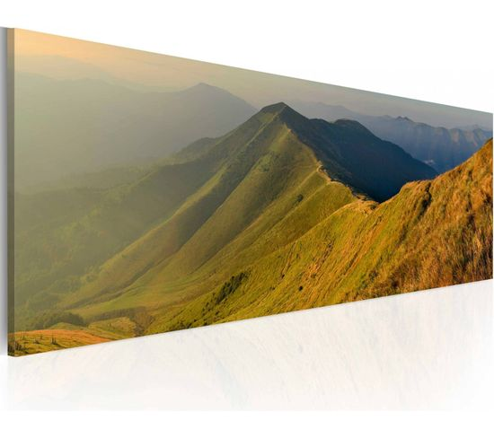 Tableau Mountains At Sunset - 120 X 40 Cm