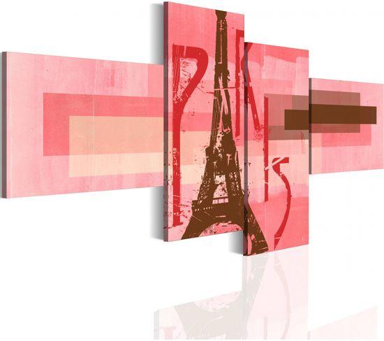 Tableau Eiffel Tower 100 X 46 Cm
