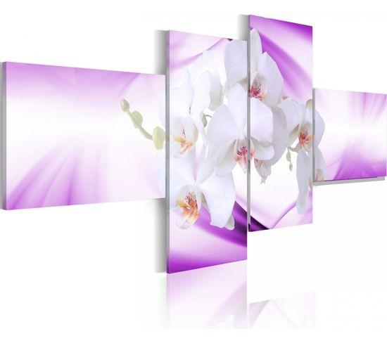 Tableau Orchidée Subtile En Violet 200 X 90 Cm
