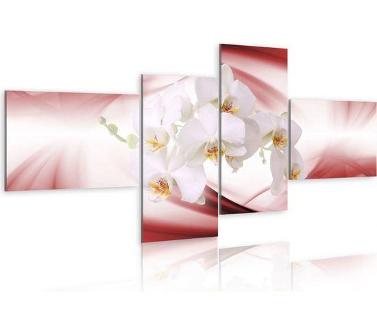 Tableau Orchidee De Couleur Rose 200 X 90 Cm