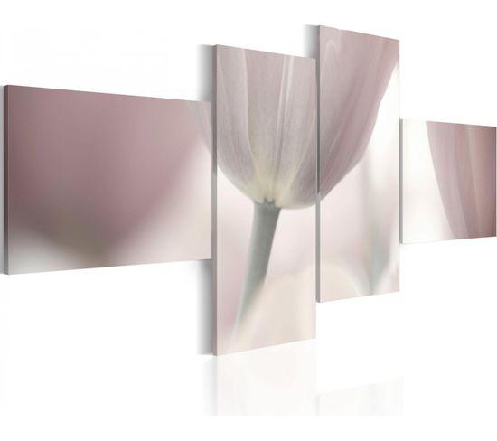 Tableau Tulipe En Pastels 100 X 45 Cm