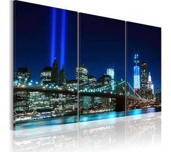 Tableau Lumières Bleues À New York 60 X 40 Cm