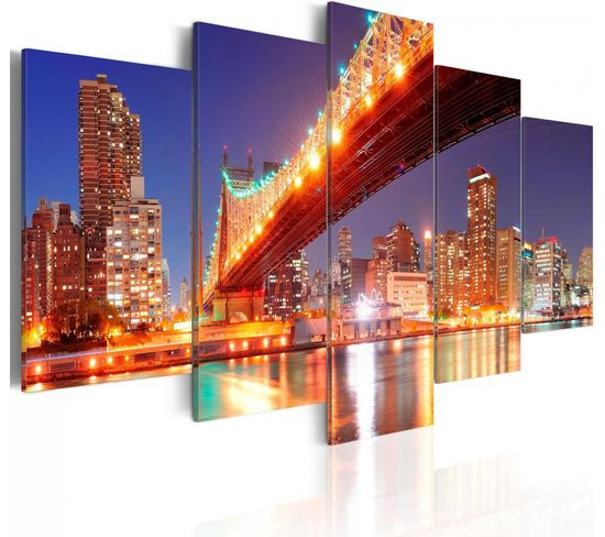 Tableau New York Aux Reflets 100 X 50 Cm