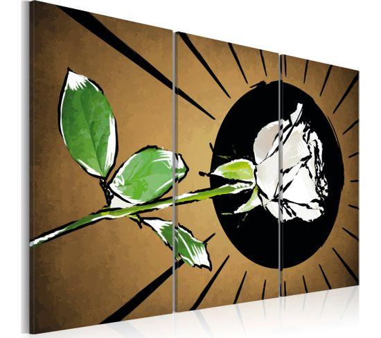 Tableau Rose Brightness - 60 X 40 Cm