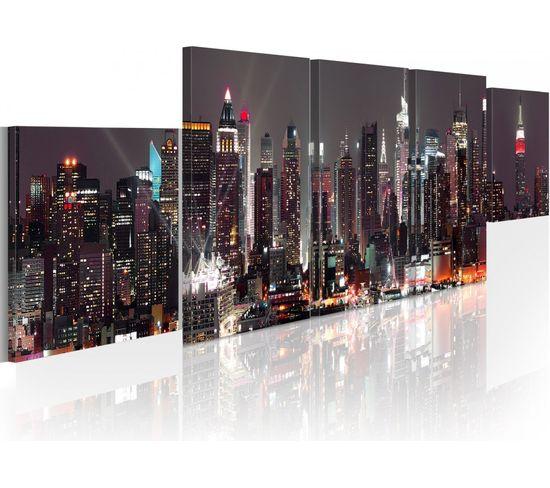 Tableau New York: Gratte-ciels - 100 X 30 Cm