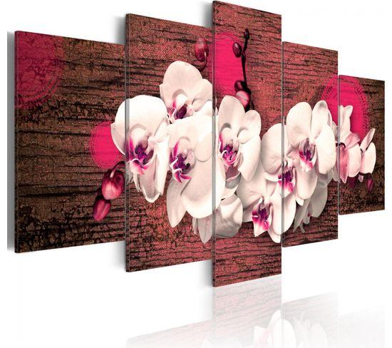 Tableau Joie Et Orchidee 200 X 100 Cm