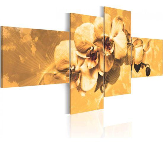 Tableau Orchidees En Sepia 100 X 45 Cm